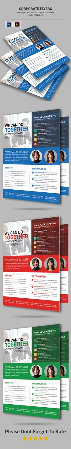 Corporate Business Flyer Template Template, Business flyer - business pamphlet templates