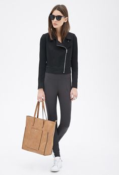 FOREVER 21+ Structured Faux Leather Tote
