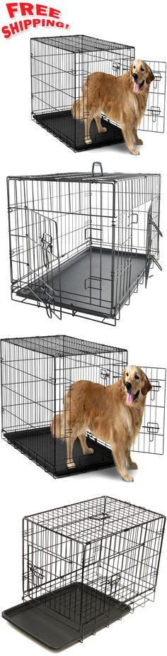 Cages and Crates 121851: Extra Large Dog Crate Kennel Xxl Xl Huge Folding Pet Wire Cage Giant Breed Size -> BUY IT NOW ONLY: $56.63 on eBay!