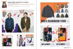 Powerful and Pop // Fashion Leaflet: Layout Style Series - Men's Style