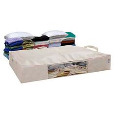 Underbed Vacuum storage chest allow you to remove the air from soft storage linens, clothing & keep out insects, dust & damp for time.