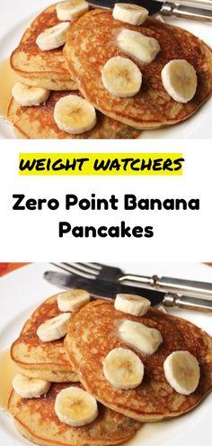Zero Point Banana Pancakes- astuce recette minceur girl world world recipes world snacks Skinny Recipes, Ww Recipes, Brunch Recipes, Gourmet Recipes, Dessert Recipes, Breakfast Recipes, Healthy Recipes, Brunch Food, Healthy Brunch