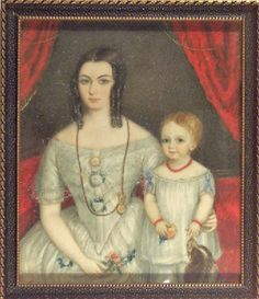 Title: Matilda Gibbon with Daughter    Object Name: miniature    Artist/Maker: English School early 19th century  Role in production: artist  Place of Creation: Europe  Date: 1848-1850    Accession Number: 1965.57  Image Copyright: © Manchester City Galleries