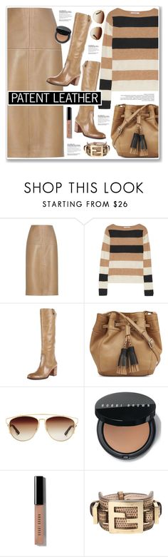 """""""PATENT LEATHER"""" by nanawidia ❤ liked on Polyvore featuring By Malene Birger, MaxMara, Vince Camuto, Nine West, Christian Dior, Bobbi Brown Cosmetics, Fendi, neutrals, patentleather and polyvoreeditorial"""