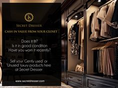 Sell your 'Gently used' or 'Unused #LuxuryProducts only at #SecretDresser  secretdresser.com