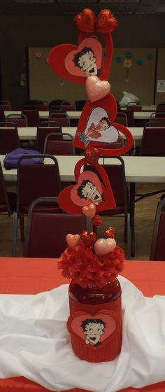 Betty Boop Centerpieces that I made.