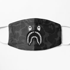 Shark Mask, Bape Shark, Cool Face, Small Faces, Transparent Stickers, Mask For Kids, Aesthetic Art, Glossier Stickers, Cotton Tote Bags