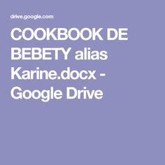 COOKBOOK DE BEBETY alias Karine.docx - GoogleDrive
