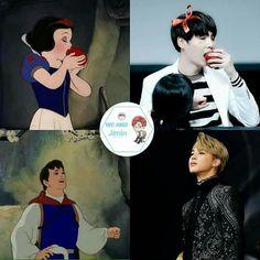 Yoongi toda una princess después de Jin claro!