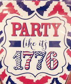 Party like it's 1776 tshirt Design