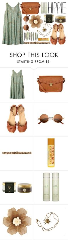 """""""Hippie"""" by lifestyle-ala-grace ❤ liked on Polyvore featuring Toast, Lipsy, Geé WaWa, H&M, Panier des Sens, Tela Beauty Organics, WALL and Anne Klein"""