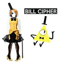"""""""Human! Bill Cipher Cosplay!"""" by mayadamico ❤ liked on Polyvore featuring arte"""