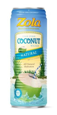 Zola 100% Pure Coconut Water, 17.5-Ounce (Pack of 12)