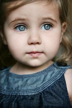 amazing little girl with blue eyes :))