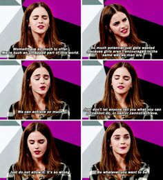 When she encouraged young women to live up to their potential and pointed out the importance of female leadership. | 13 Times Emma Watson Totally Nailed The Whole Feminism Thing