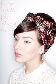 Faux updo tutorial for short hair!
