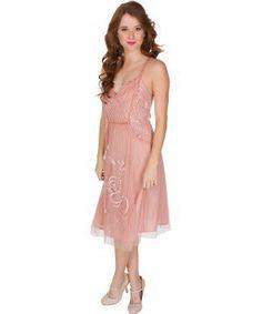 03cde97fa0e16b Alana Vintage Style Party Dress in Soft Pink by Nataya Vintage Outfits,  Moda Vintage,