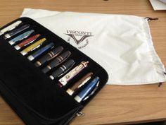 John's enviable pen collection...