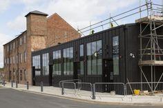 Friars Mill inLeicester (UK) by Levitate Architects & Design Studio Installer : Belfry Roofing Facade Specialists, Copyright : Paul Kozlowski #ANTHRAZINC #UK #UnitedKingdom #Zinc #VMZINC #Architecture #Offices #Entreprise #AnthraZinc #Bricks #Briques