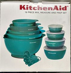 KitchenAid 18 Piece Mix Measure and Prep Bowl Set Turquoise *** You can get additional details at the image link.