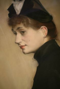 Jacques-Emile Blanche - Portrait of Madame Henri Wallet, 1887