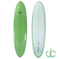 7'10 DC Double Ender with resin tint, resin pin lines, volan cloth, deck patch, tail patch with gloss /polish finish