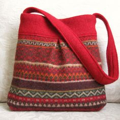 red Bella felted wool purse by FeltSewGood, via Flickr