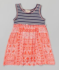 Pink Vanilla Red & White Floral Dress - Toddler & Girls | zulily