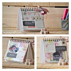 Diy Photo, Diy And Crafts, Arts And Crafts, Paper Crafts, Round Loom Knitting, Flip Calendar, Personalised Calendar, Pocket Letters, All Paper