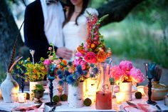 california-bohemian-wedding-pink-blue-red-yellow-color-palette
