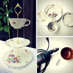 reciclar tazas de caf reciclaje pinterest tea parties teas and tea time. Black Bedroom Furniture Sets. Home Design Ideas