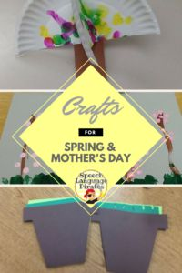 Spring and Mother's Day crafts for low incidence populations Speech Therapy Activities, Language Activities, Mothers Day Crafts, Crafts For Kids, Everything Preschool, Making Life Easier, Language Development, Teaching Tips, Speech And Language