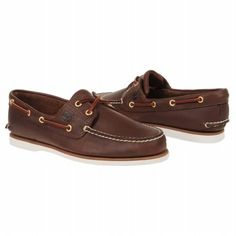Men's Timberland Icon Classic 2Eye Boat Dark Brown Smooth Shoes.com