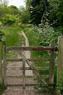 memories---- reminds me of a few garden gates i have seen and some dirt paths i have followed.