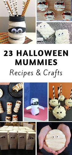 23 Halloween Mummy Recipes and Crafts Create some unique mummy recipes and crafts and have the whole family get involved. Spooky mummies are a thing of the past with these recipes and crafts. Fairy Halloween Costumes, Halloween Drinks, Couple Halloween, Halloween Treats, Halloween Diy, Halloween Projects, Diy Projects, Disney Halloween, Halloween Stuff