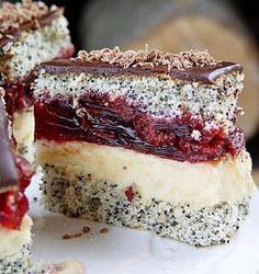 Poppy cake with cherry filling | Ukrainian recipes - for a tasty life