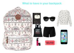 """Pack the back"" by styleisme ❤ liked on Polyvore"