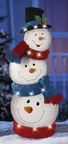 KNLstore LED Lighted Stacked Snowman Jack Frost Metal Tin Snowmen w/ Hat Blue Red Scarf White Lights Christmas Holiday Garden Stake Outdoor Yard Snow Man Decoration KNL Store Christmas Yard, Christmas Snowman, Christmas Projects, Simple Christmas, Christmas Holidays, Christmas Wreaths, Christmas Ornaments, Snowman Crafts, Holiday Crafts