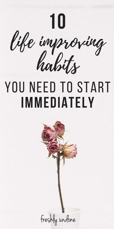 Over time, the small actions we take every single day can have a powerful effect on our lives. We don't realize the importance of the impact our daily habits have on our future, because in the moment they feel insignificant. But these little actions compound and can either bring us closer to our goals, or further away from them. Here are 10 life improving habits to start immediately. #goodhabits #habitstostart