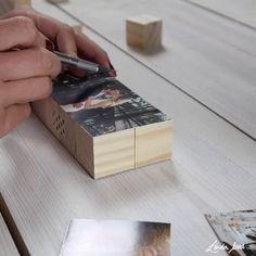 Make DIY photo cubes yourself - foldable cube as a DIY gift idea - Haus deko - schmuck Handmade Gifts For Grandma, Presents For Grandma, Handmade Birthday Gifts, Birthday Gifts For Grandma, Diy Gifts For Mom, Diy Crafts For Gifts, Present For Mom, Diy Anniversary Gifts For Her, Creative Gifts For Boyfriend