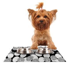 Kess InHouse Jacqueline Milton 'Seeds-Monochrome' Black White Feeding Mat for Pet Bowl, 18 by 13-Inch *** Tried it! Love it! Click the image. : Cat items