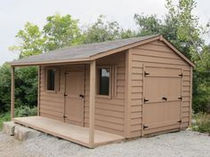 10x16 classic shed with a 4 foot side porch