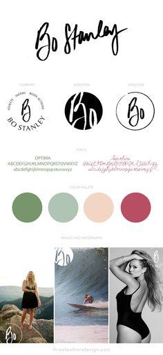 Brand and website design for athlete and model, Bo Stanley. #personalbraning #logodeisgn #surfer #branddesign