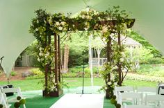 """If you ever found yourself scratching your head wondering what in the world """"garden party glam"""" might mean - well this my friends is your answer wrapped up in a pretty little bow. You can thank Event Creative and Bliss Weddings and"""