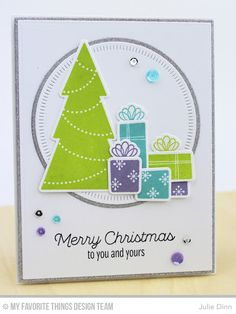 Trim the Tree, Radial Stitched Circle STAX Die-namics, Trim the Tree Die-namcis - Julie Dinn  #mftstamps