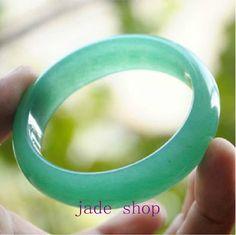 FREE SHIPPING  Natural AAA Grade green jade bangle  by jadeGift, $62.00