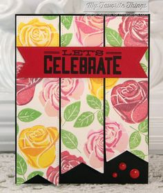 Birthday Sentiments, Blooming Roses, Pierced Fishtail Flags STAX Die-namics - Sharon Harnist #mfstamps
