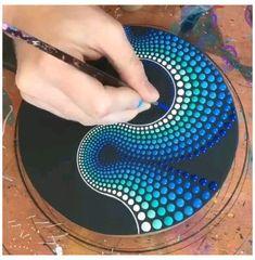 Stone Art Painting, Dot Art Painting, Mandala Painting, Hippie Painting, Mandala On Canvas, Dot Painting On Rocks, Mandala Drawing, Painting Canvas, Acrylic Paintings