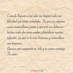 Cartas de amor 7 Smart Quotes, Love Quotes, Sex And Love, My Love, Birthday Gifts For Boyfriend Diy, Frases Love, Boyfriend Pictures, Inspirational Phrases, Love Phrases