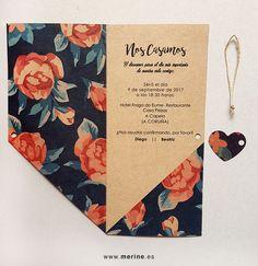 Invitaciones de boda originales y personalizadas. Diseño original. 100% montadas a mano. Echa un vistazo a nuestra shop ;)
